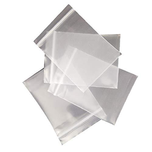 asdfwe 100pcs Zip Lock Transparente Bolsa De Plástico Joyería Ziplock Bolsa De Plástico Puede Volver a Cerrar Bolsos Claros Pequeño Embalaje Bolsita (15 * 25 Cm)