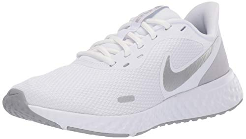 Nike Revolution 5, Zapatillas de Atletismo Mujer, Multicolor (White/Wolf Grey/Pure Platinum 100), 40 EU