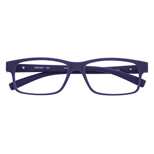 DIDINSKY Blaulichtfilter Brille für Damen und Herren. Blaufilter Brille mit stärke oder ohne sehstärke für Gaming oder Pc. Blendschutzgläser. Indigo +1.5 – THYSSEN