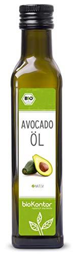 Avocadoöl BIO 250 ml I Avocado-Fruchtfleischöl I nativ - 100% rein I Rohkostqualität von bioKontor