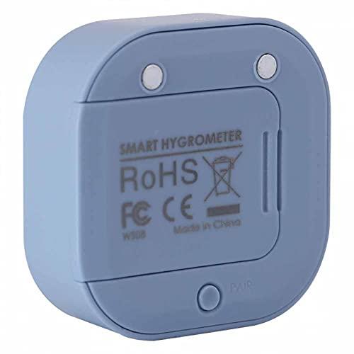 YOIM Termohigrómetro, electrónico Digital en Tiempo Real -20 ℃ a 65 ℃ Medidor de Humedad y Temperatura, ABS para refrigerador doméstico, Sala fría, Garaje, Bodega(Blue)