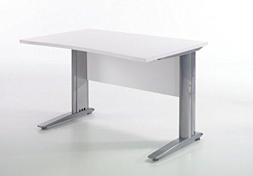 Froschkönig24 Tvilum Box Schreibtisch 120 x 80 cm Bürotisch Tisch Büro Weiß