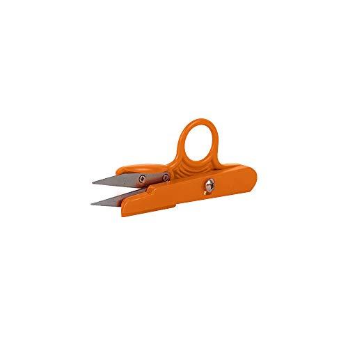 EUROXANTY Tijeras corta hilos | Precisión y rapidez | Tijeras de costura | Manualidades | Tijeras para pesca | Tijeras Patchwork | 12 cm (NARANJA)