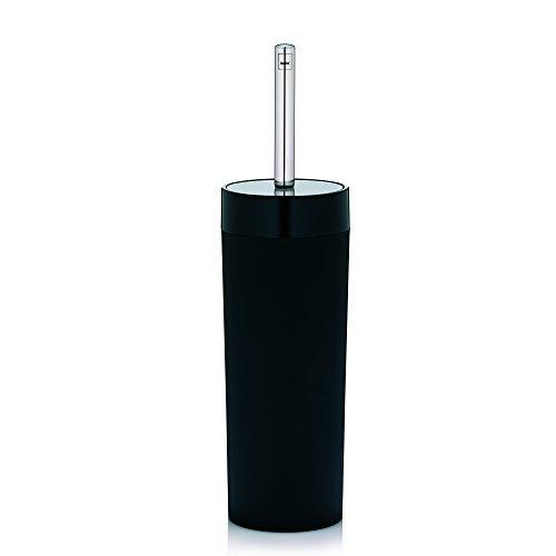 KELA 21739, WC-Bürste und Behälter, WC-Garnitur, ABS-Kunststoff, Dark, Schwarz