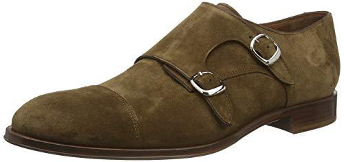 Lottusse L6964, Zapatos Doble Hebilla Hombre, Marrón (Camoscio Marrone), 42 EU