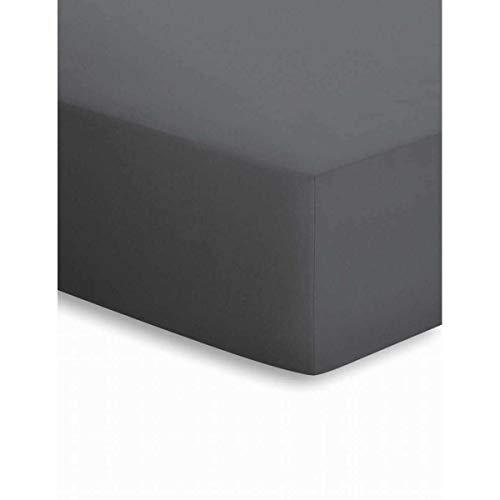 schlafgut Mako-Jersey Spannbettlaken 50041 90-100x190-200 titan