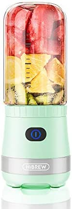 HiBREW Avocado Green Portable Mini Cordless Single Serve Personal Blender for Smoothies and product image