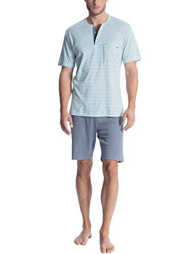 Calida Herren Relax Streamline 2 Zweiteiliger Schlafanzug, Blau (Smoke Blue 544), Medium