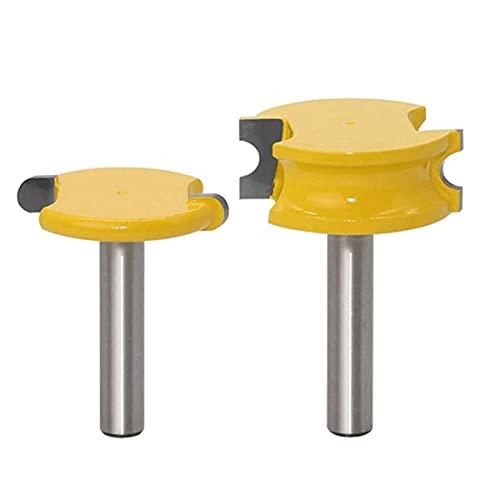 2 STÜCKE Router Bit Kit, Hartmetall Frässchneider, 8mm Schaft, Kanuflöte Und Perlenbits Holzbearbeitungsschneider Werkzeuge Für DIY Carpentry