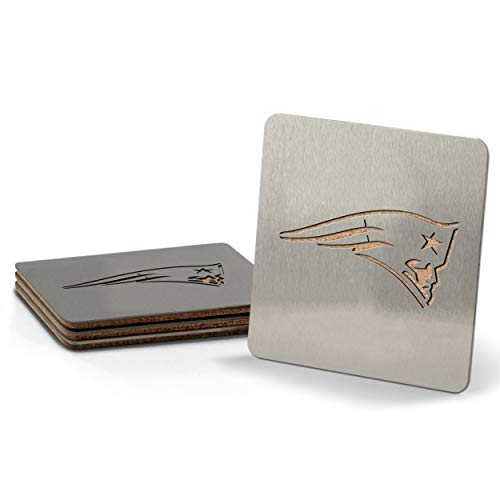 YouTheFan NFL New England Patriots Boaster Stainless Steel Coaster Set of 4 , 4