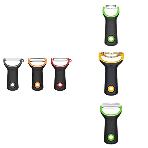OXO Good Grips Kitchen Essentials Peeler Bundle with 3pc Peeler Set, Asparagus Peeler, Corn Peeler and Citrus Peeler & Zester
