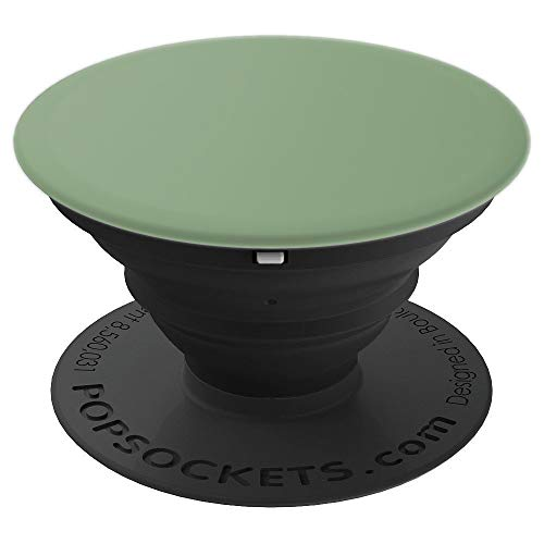 Matte Olive Green Phone Popper Colored Solid Color Plain PopSockets Grip and Stand for Phones and Tablets