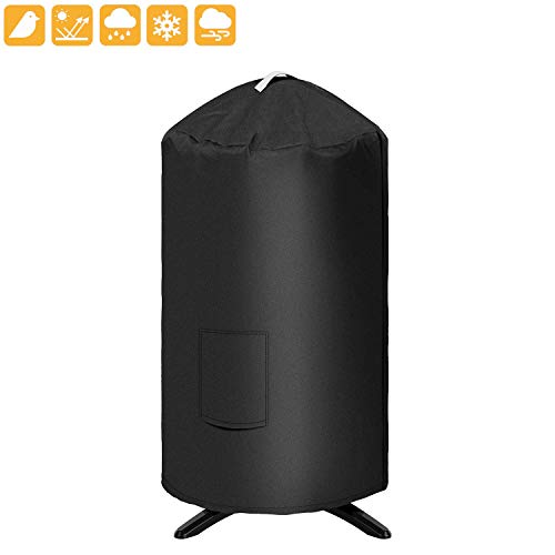 """Grisun Round Grill Cover for George Foreman GFO3320 GFO240 Grill, 19.5""""(Dia) 32""""(Tall) Water Proof Heavy Duty Outdoor Canvas BBQ Grill Cover Dome Smoker Cover Fits or Similar Size Grills"""