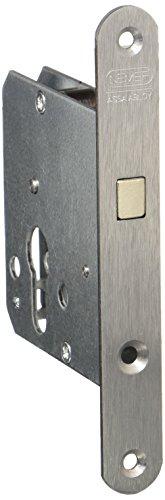 NEMEF 9751620001 Schiebetürschloss | mit Bogenriegel vernickelt | Dornmaß: 55 mm | PZ | inklusiv Schließblech
