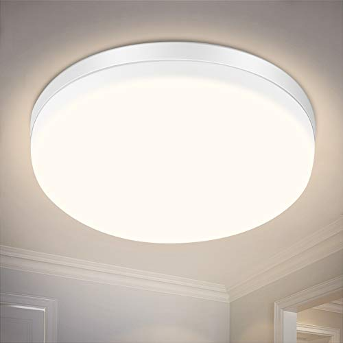 LED-Deckenleuchte, SOLMORE 24W LED-Deckenleuchte IP54 Wasserdichte Badezimmerlampe IP54, Neutralweiß 4000K, Licht 2200LM eignet sich sehr gut für Bad, Schlafzimmer, Balkon, Küche und Wohnzimmer
