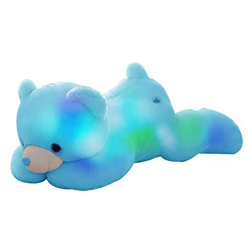 Juguete animales de peluche LED - Luminoso lindo mapache de peluche Ju