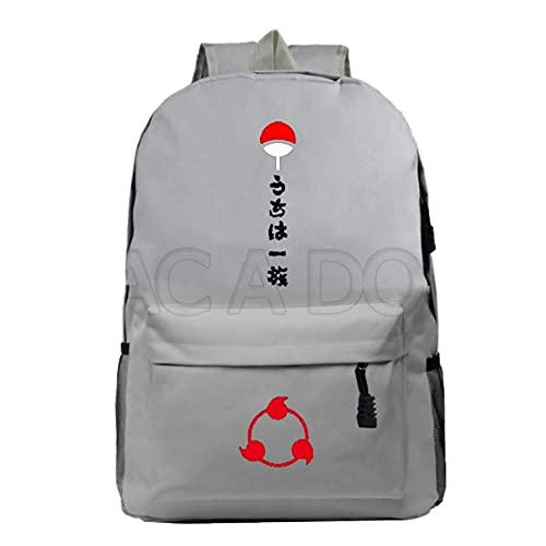 ULPUXMM Naruto-Anime Mochila Negro Anime Mochilas Niños Niñas Mochila Escolar Viaje Portátil Daypack Sac A Dos 801-ff-11-7-16 B