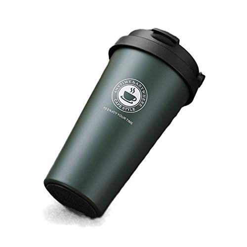 500Ml Coffee Mug Stainless Steel Thermo Tea Cup Car Thermos Cup Travel Thermocup Gifts Water Bottler-Matte Green-401-500Ml