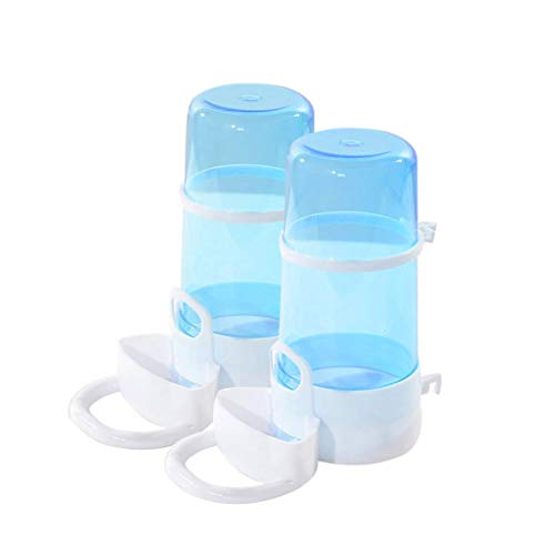 Yuccer Hámster Botella de Agua, Comedero Automático de Alimentos para Mascotas, Cobayas, Hurones, Conejos and Pájaro (2 Pack)