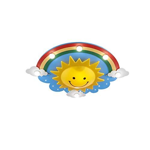 SMEJS Lámpara de Techo Creativa para Dormitorio Infantil, Cara Sonriente, led, niños, niñas, Dibujos Animados, arcoíris, Cielo, luz de Techo