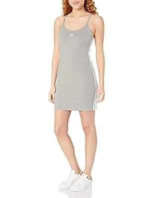 adidas Originals Women's Tank Dress, Medium Grey Heather/White, M