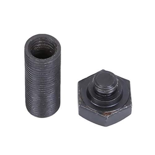 Pillendose als Schraube mit Mutter in Schwarz und Silber   Geocaching Geocache   Geheim Versteck Nano Safe   Pillencontainer   Pillenbox   5,3 x 1,3 cm (Schwarz)