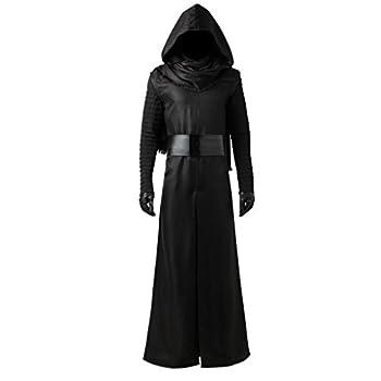 CosplayDiy Men s Suit for Kylo Ren Cosplay Costume with Gloves M Black
