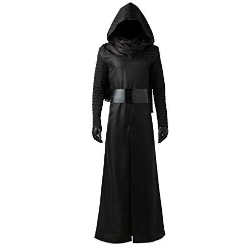 CosplayDiy Men's Suit for Kylo Ren Cosplay Costume with Gloves M Black