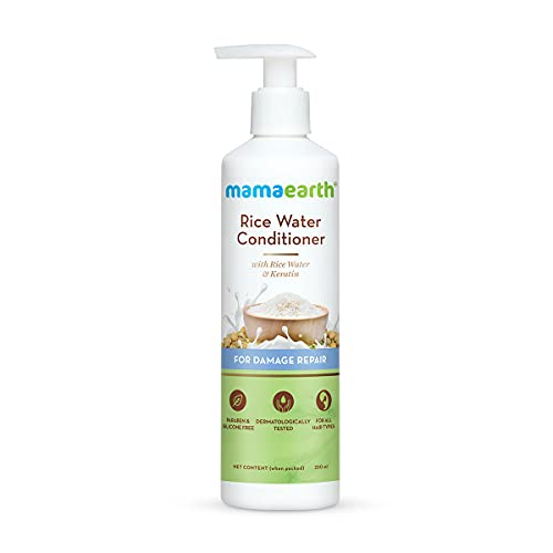 Mamaearth Rice Water Conditioner with Rice Water & Keratin for Damaged, Dry and Frizzy Hair – 250 ml