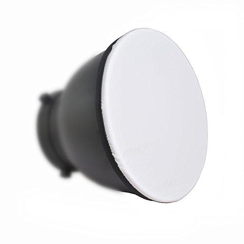 "Bestshoot 2PACK 7"" 180mm Soft White Diffuser Sock for Studio Strobe Standard Bowen Mount Reflector Fits Godox AD360.Monolights Speedlites"