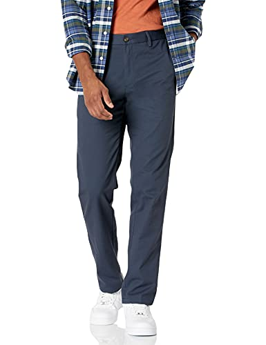 Amazon Essentials Slim-Fit Wrinkle-Resistant Flat-Front Chino Pant Pants, Marino, 31W x 30L