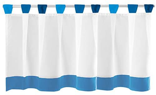 Bistrogardine mit Schlaufen ca. 150x45 cm Auswahl: blau - dunkelblau