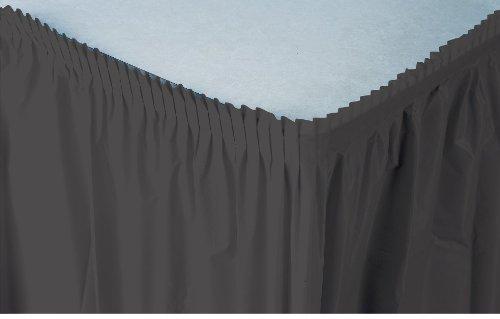 Creative Converting Plastic Table Skirt, 21.5-Feet, Black Velvet