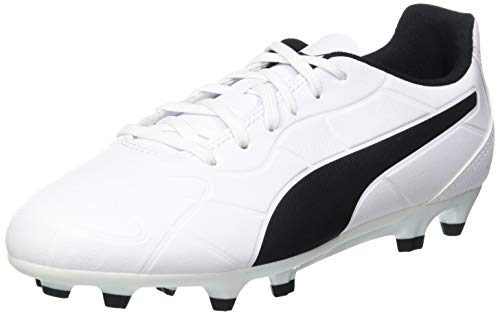 PUMA Monarch FG Jr, Zapatillas de Fútbol, Blanco White Black, 35 EU