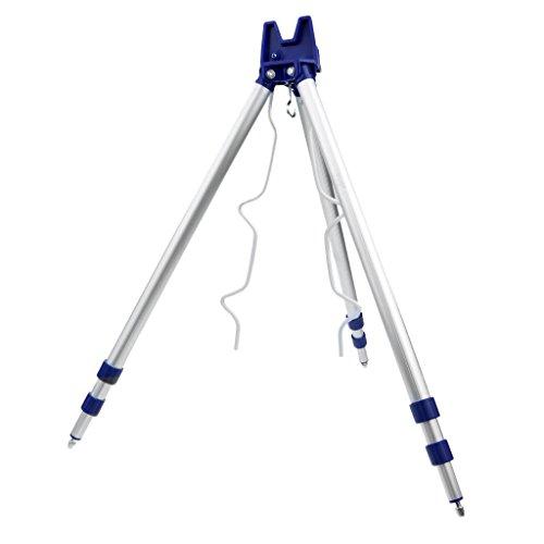 MagiDeal Angelrute Stativ Hält 5 Angeln Ruten Gleichzeitig, Teleskop Stativ Halterung