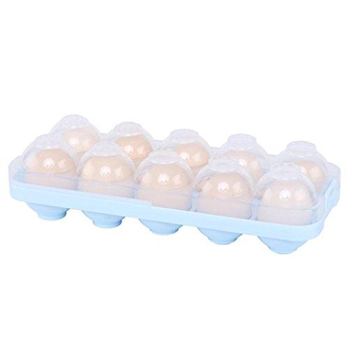 Gaddrt Porte-bac à oeufs, étui de rangement pour oeufs, boîte à œufs réfrigérateur bac à légumes (Bleu)