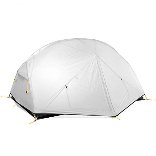 Ultralight Instant Tent 2 Person Easy Set Up Double Layer Waterproof 3 Season Camping Tent for Outdoor Hiking Fishing (Color : White)