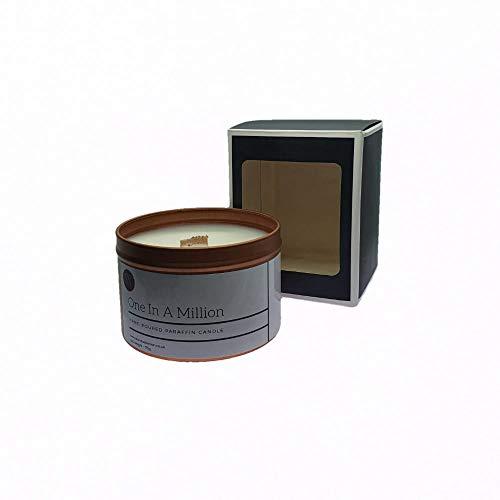 Vela aromática en lata de oro rosa con cera de vela y aceites aromáticos de alta calidad