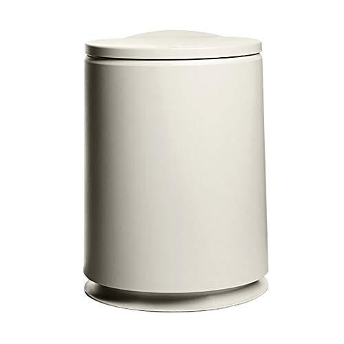 Poubelle- Triables Trash Can, appuyez sur le printemps automatique Couverture, amovible Seau intérieur, Matériel plastique, 10L, for la cuisine Chambre (Color : Khaki)