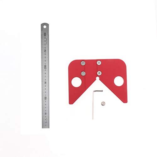 Edelstahl Zentrierwinkel Zentriermesser Mittelpunktfinder Holzarbeiter Messwerkzeug