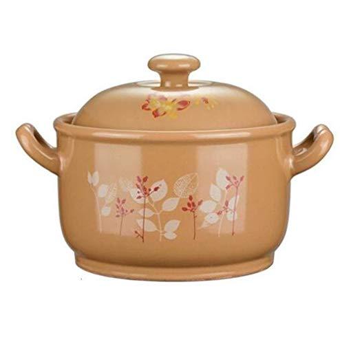 HEMFV Cacerola clásica de hierro fundido esmaltado redondo de cerámica con superficie de esmalte, superficie lisa y esmaltada fácil de limpiar (tamaño: L)