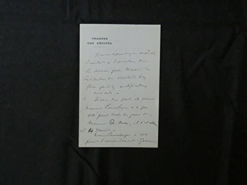"""RARE""""First Craniectomy"""" Odilon Lannelongue Hand Written Letter Todd Mueller COA"""