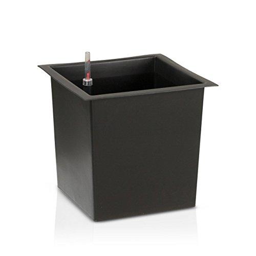 Preisvergleich Produktbild Innenbehälter für Pflanzkuebel mit Bewässerungsset,  29x29x27 cm oder 39x39x36 cm,  Blumenkübeleinsatz,  Einsatzbehälter,  Pflanzeinsatz,  Wasserstandsanzeige