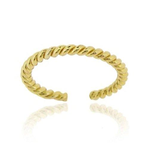 Luxuriöser Zehenring aus 24 Karat Gold Vermeil