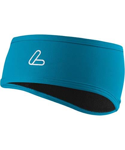 LÖFFLER Mono Flaps TVL Stirnband, Topaz Blau, One Size