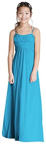 David's Bridal Long Chiffon Sweetheart Gown Style WJB0646, Malibu, 8