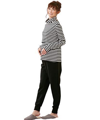 [nissen(ニッセン)] ルームウェア・パジャマ カジュアル マタニティウェア・授乳服 【産前】極厚あったか裏シャギーマタニティルームパンツ(ウエスト調節可) 黒 マタニティM