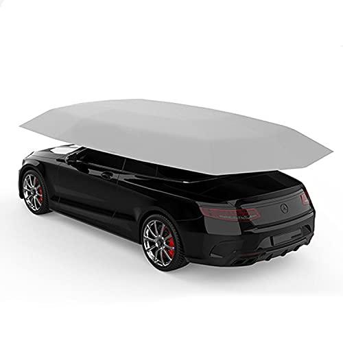 Rcherish El Paraguas Universal del Automóvil Incluyen Completamente Automáticamente 1 Soporte Al Aire Libre A Prueba De Lluvia Y A Prueba De Sol, Protege Completamente Su Automóvil, 4,5 M,Plata
