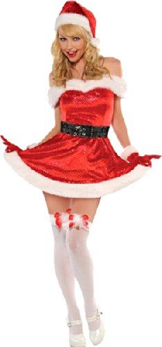 Nuovo da donna Natale Merry Kiss Me Sexy Babbo Natale Festive Fancy Dress Costume del partito