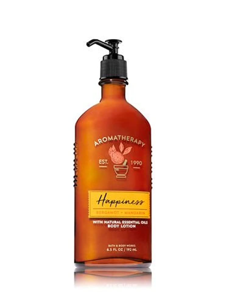 ブランデー時代遅れワイヤー【Bath&Body Works/バス&ボディワークス】 ボディローション アロマセラピー ハピネス ベルガモットマンダリン Body Lotion Aromatherapy Happiness Bergamot Mandarin 6.5 fl oz / 192 mL [並行輸入品]